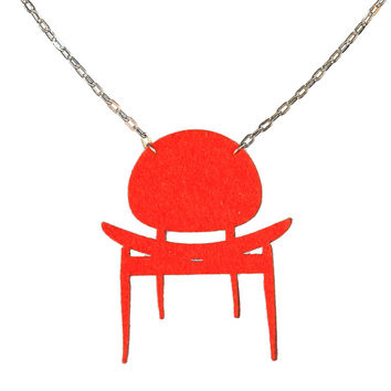 Wool felt dining chair necklace