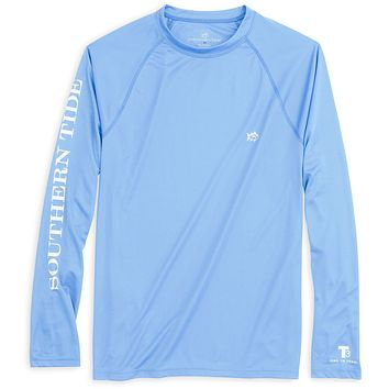 Long Sleeve Performance Tee in Ocean Channel by Southern Tide