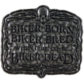 Biker Born Belt Buckle