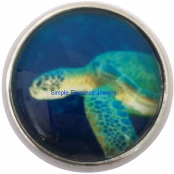 Sea Turtle Snap 20mm for Snap Jewelry