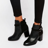 Miss KG Swift Buckle Strap Heeled Ankle Boots at asos.com