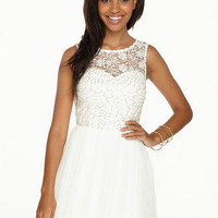 Gemma Sequin Lace & Tulle Dress