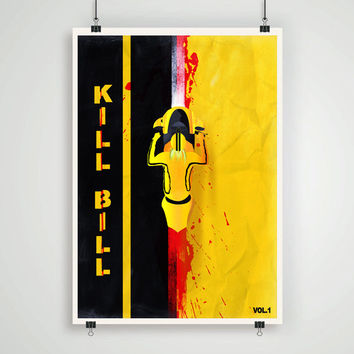 Minimalistic Kill Bill poster Quentin Tarantino movie poster