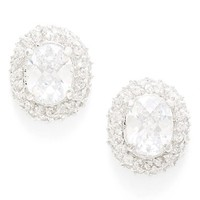 Women's kate spade new york 'sweet sparkle' cluster stud earrings - Clear/