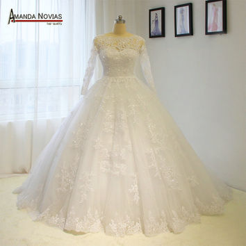Vintage wedding dress princess ball gown full lace bridal dress