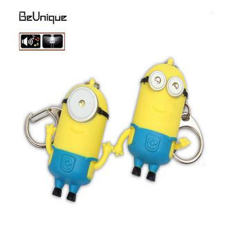 Despicable Me vocalization light emitting led keychain small commodity hot sell Minions widget small hangings gadgets gifts