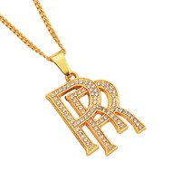 Jewelry Gift New Arrival Stylish Shiny Alloy Alphabet Necklace [10819552451]
