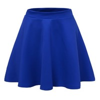 J.TOMSON Womens Basic Skater Skirt BLUE LARGE