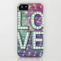 Love is the Light of Your Soul (LOVE lights III) iPhone & iPod Case by Soaring Anchor Designs ⚓
