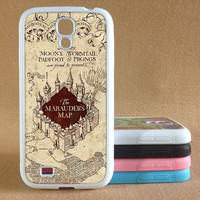 Samsung Galaxy S3 S4 Case,Samsung Galaxy s5 case Harry Potter Marauder's Map Galaxy S3 S4 Silicone Rubber Case,Marauder Map cover skin Case