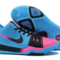 Best Deal Online Nike Kyrie Irving 3 Blue Black Pink Men Sneakers
