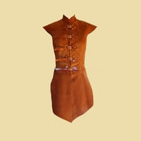 Tabbard for women made of leather