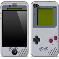 Gameboy iPhone 4/4s Skin FREE SHIPPING