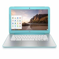 "Refurbished HP Turquoise 14.0"" 14-X010WM Chromebook PC with NVIDIA Tegra K1 Mobile Processor, 2GB Memory, 16GB eMMC and Chrome OS - Walmart.com"