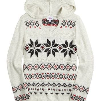FAIR ISLE HOODED SWEATER | GIRLS CLOTHES NEW ARRIVALS | SHOP JUSTICE