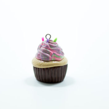Colorful Cupcake Charms, Polymer Clay Charms, CupCake Charms