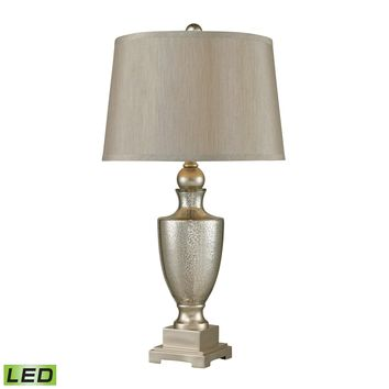 113-1140-LED Antique Mercury Glass LED Table Lamps With Silver Accents - Set of 2 - Free Shipping!
