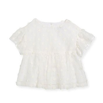 Milly Minis Lindy Daisy-Embroidery Blouse, Size 8-16