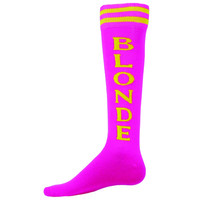 URBAN BLONDE SOCKS CrossFit Socks Blonde's Have more fun Socks in Hot Pink!