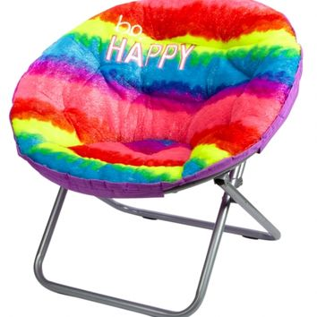Amazing Faux Fur Rainbow Saucer Chair Girls Room Decor Room Tech Toys Shop Justice Download Free Architecture Designs Rallybritishbridgeorg