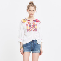 JM DRYGOODS™ EMBROIDERED SAN VICENTE TOP