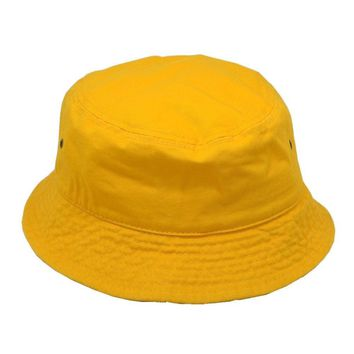 New For Women's Men's Bucket Hat Cap Fishing Boonie Brim visor Sun Safari Yellow