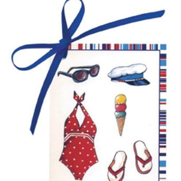 IHR St. Tropez Beach Beach Theme Gift Tags - Package of 4