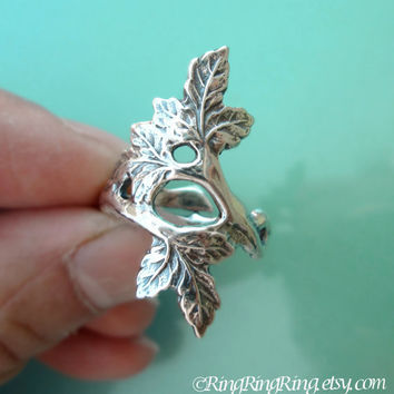Autumn Leaf Ring, Adjustable Branch, Sterling Silver Ring, Bridal Accessories Jewelry