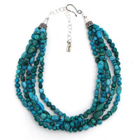 Rocki Gorman Five Strand Turquoise Necklace