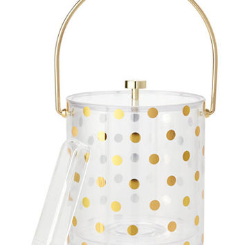 kate spade new york Gold Dots Acrylic Ice Bucket - All Glassware & Drinkware - Dining & Entertaining - Macy's