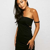 Don't Ask Why One Shoulder Dress, Black