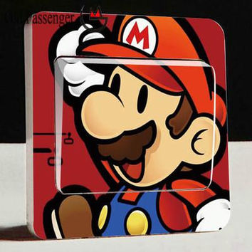Old Passenger _ Light Switch Stickers Super Mario Bros Mural Removable Wall Sticker DIY Vinyl Decal Kids Room Decor Stickers