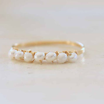 Tiny Freshwater Pearl Ring