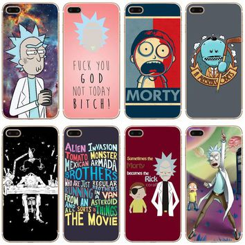 Rick And Morty Transparent Hard Thin Case Cover For Apple iPhone 4 4S 5 5S SE 5C 6 6S 7 8 X Plus