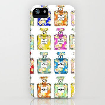 Colorful Floral Chanel #2 iPhone Case by fashiondiary | Society6