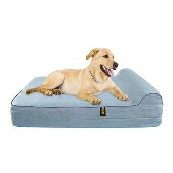 Dog Bed Orthopedic Memory Foam With Pillow - Grey - Extra Large
