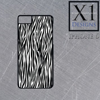 Custom Zebra Print Iphone Case Iphone 6 Zebra Print Case Iphone Cover Black and White Cell Phone Case iphone 6