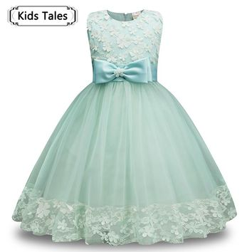 Summer Flower Girl Dress Princess Costume Wedding Dresses Girl Wear Tulle Kids Children Party Dress Formal Dresses SQ353