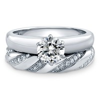Sterling Silver Round Cubic Zirconia CZ Solitaire Ring Set 1.11 ct.twBe the first to write a reviewSKU# VR201-01
