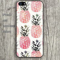 colorful cartoon Pineapple iphone 6 6 plus iPhone 5 5S 5C case Samsung S3,S4,S5 case Ipod Silicone plastic Phone cover Waterproof