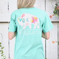 Calamity Janes: Buffalo Logo Watercolor Dots + Florals {Mint}