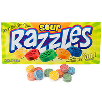 Razzles Candy Packs - Sour: 24-Piece Box