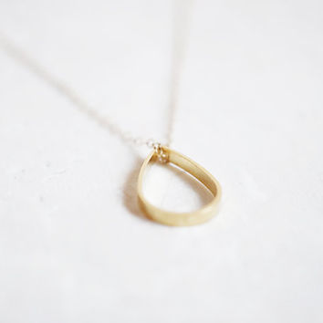 Little Gold Drop - 14k Gold Filled Chain