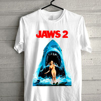 jaws 2 Screen print Funny shirt for t shirt mens and t shirt girl size s, m, l, xl, xxl