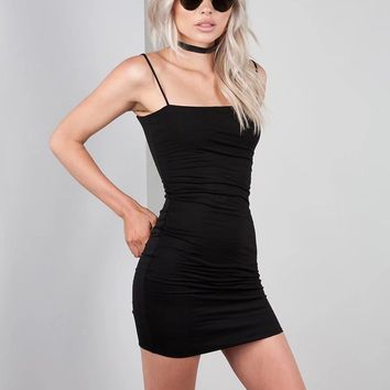 Basic Slash Neckline Slip Dress
