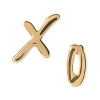 Banana Republic Womens XO Stud Earring Size One Size - Gold