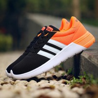 Adidas nmd sports shoes black-orange-white line H-MDTY-SHINING