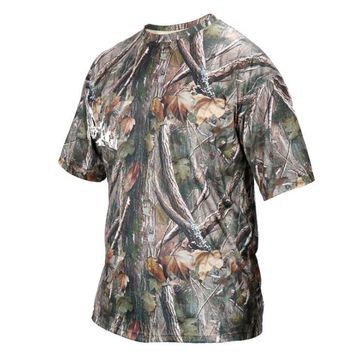 Men's summer outdoor hunting bionic camouflage short-sleeved T-shirt cotton sweat-absorbent comfortable breathable T-shirt