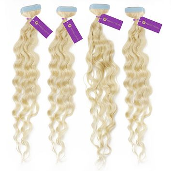 4 x Curly Tape-In Hair Extension Bundle Deal (40 Pieces)