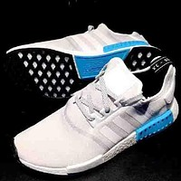 """""""ADIDAS"""" White&Blue Sole NMD women's sports shoes sports shoes"""